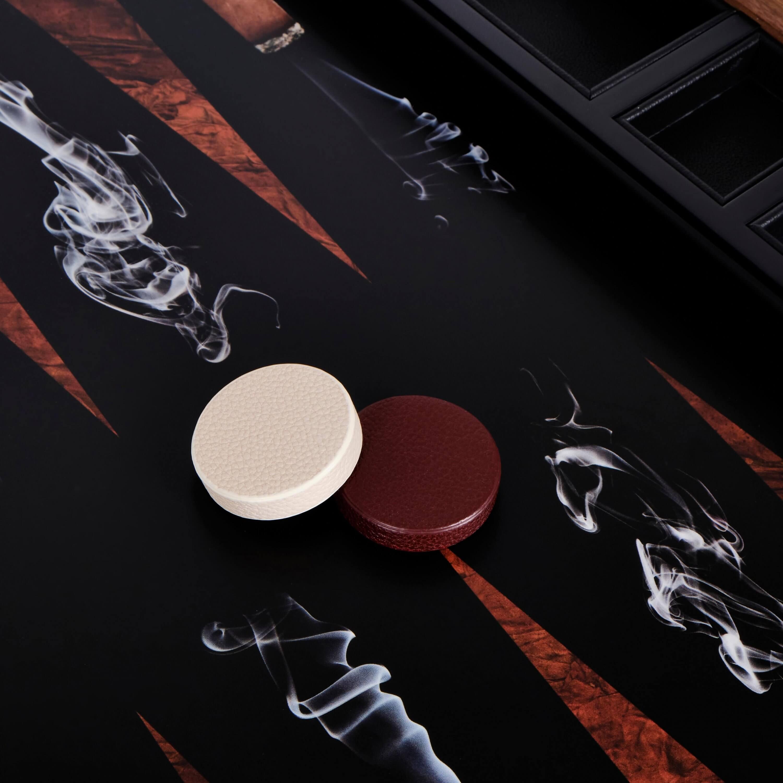 Alexandra Llewellyn Cigar Backgammon Set Detail