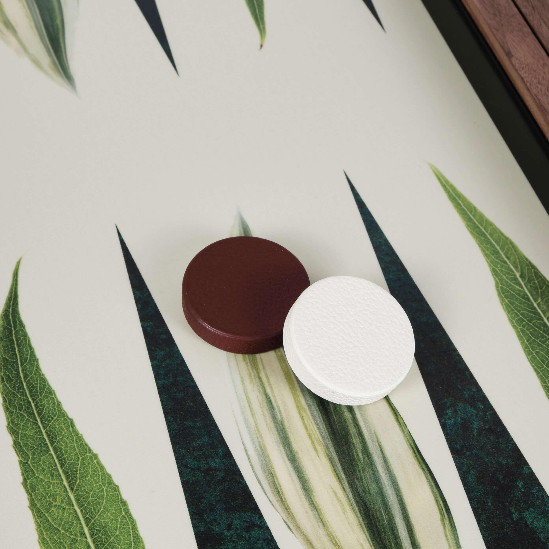 Alexandra Llewellyn Leaf Backgammon Set Detail