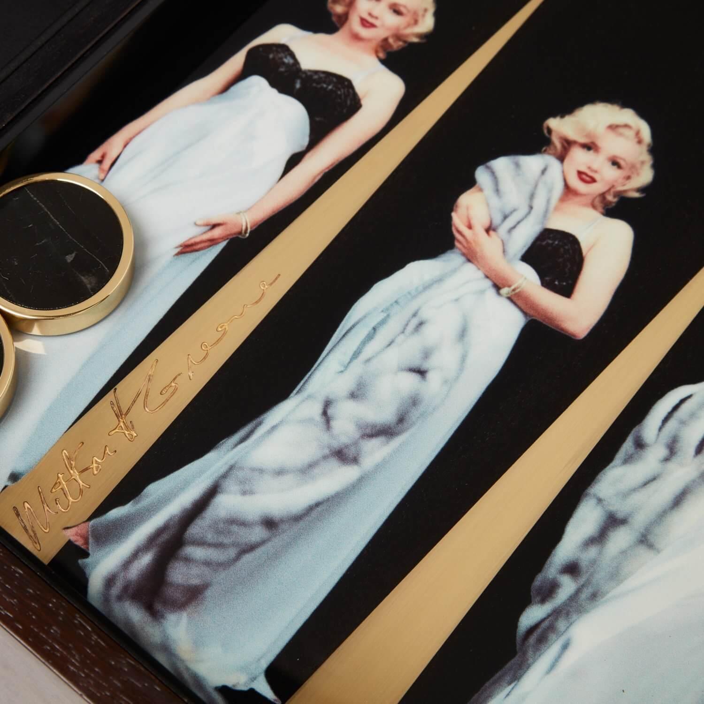 Alexandra Llewellyn Marilyn Monroe Backgammon Set Detail
