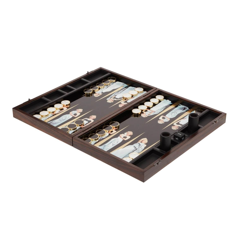 Alexandra Llewellyn Marilyn Monroe Backgammon Set Open