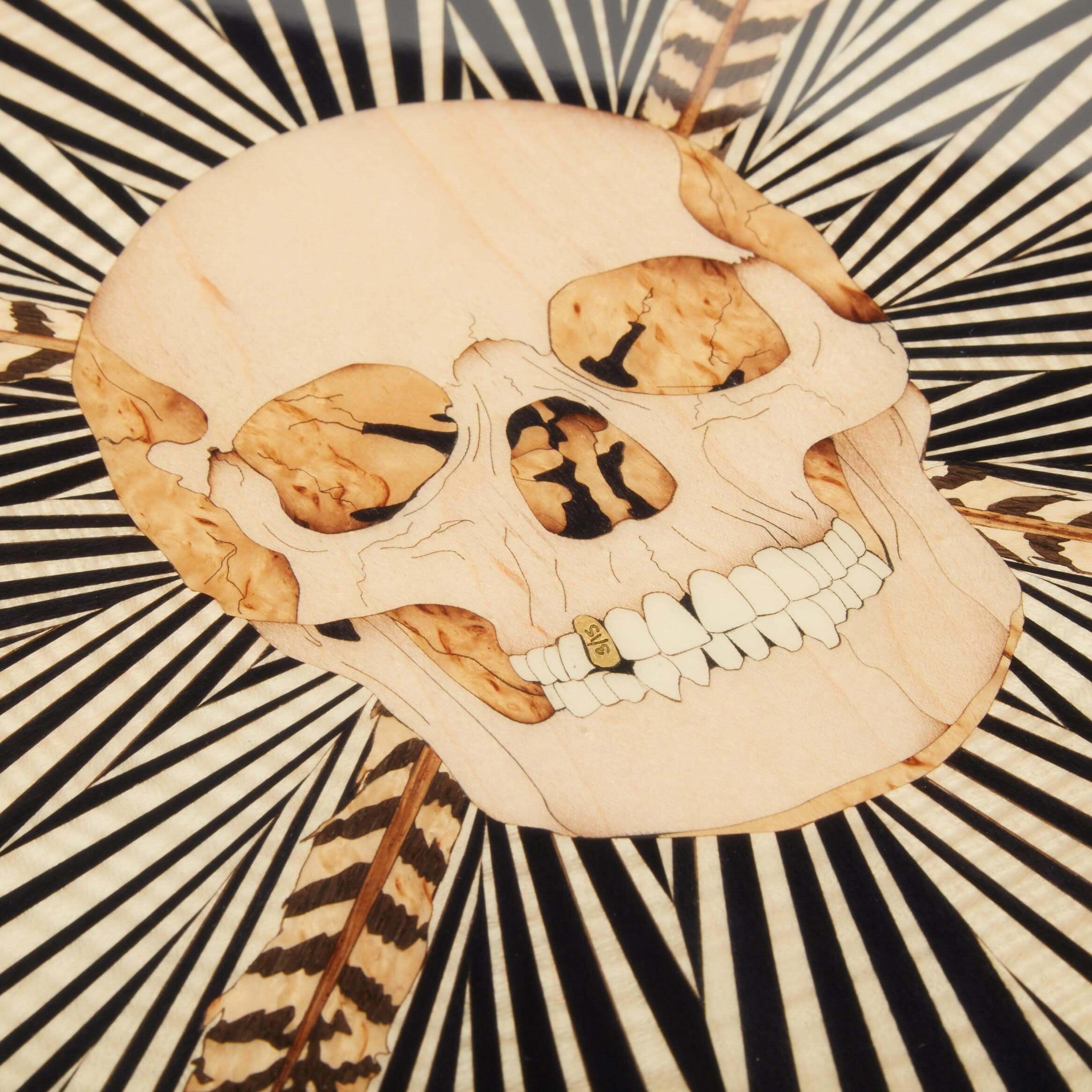 Alexandra Llewellyn Skull Poker Detail