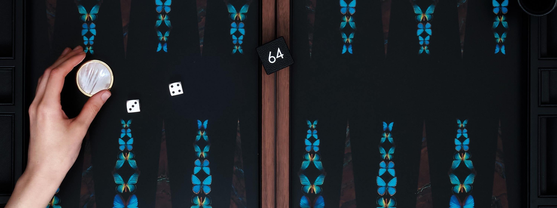 Alexandra Llewellyn Butterfly Backgammon Set