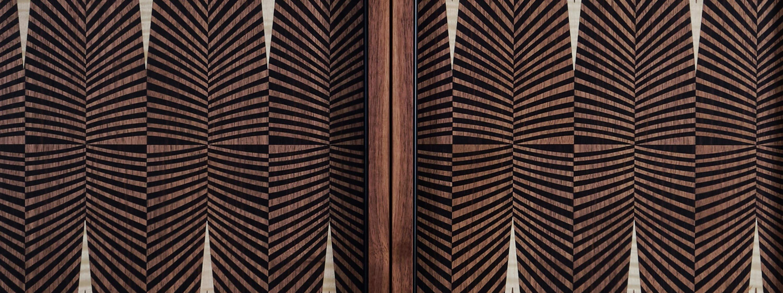 Alexandra Llewellyn Geometric Walnut Backgammon Board