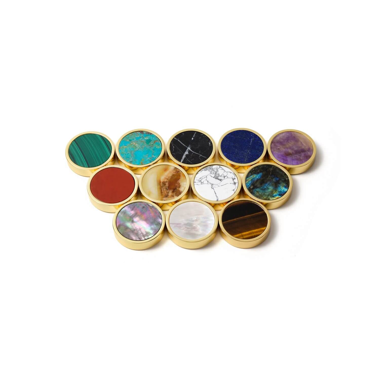 Semi-precious playing stones