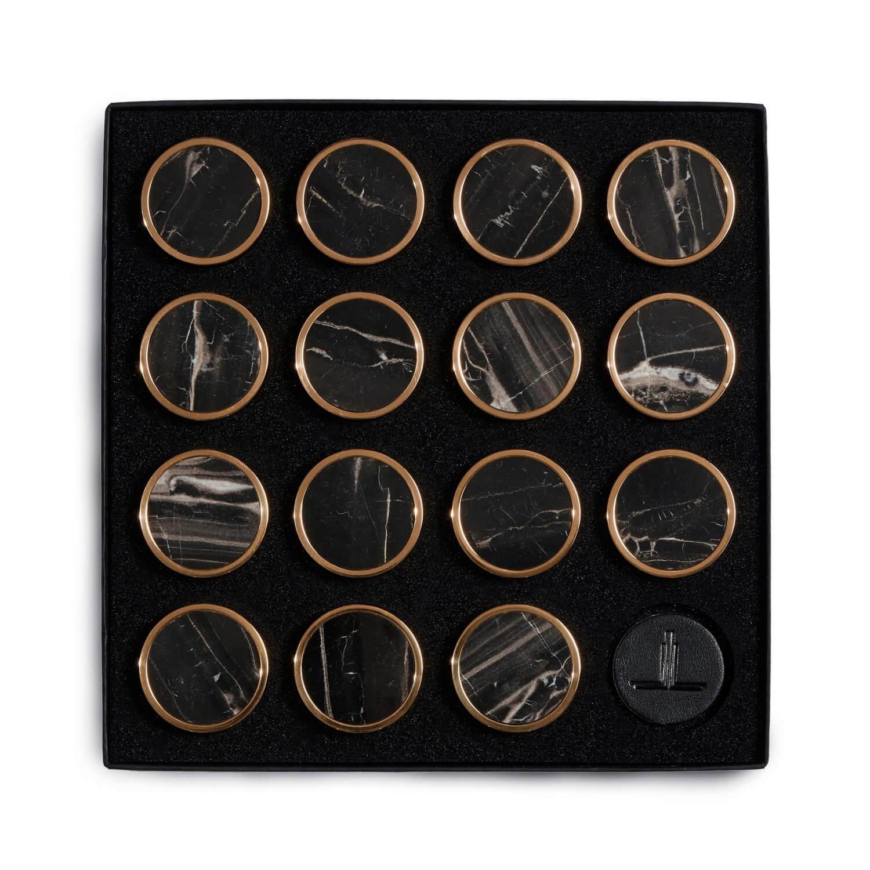 Black Veined Marble Semi Precious Playing Pieces Alexandra Llewellyn Overhead Crop