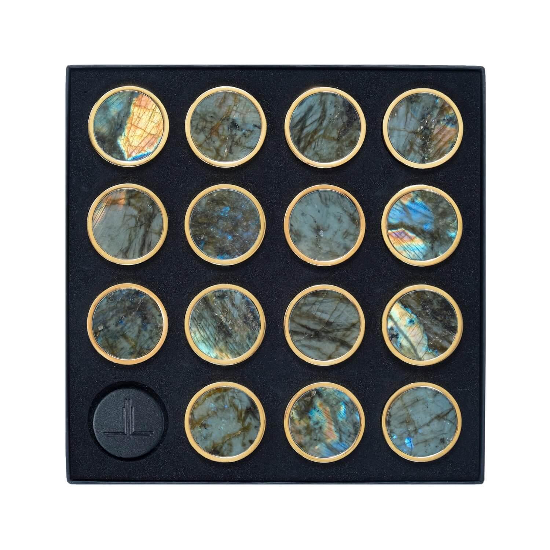 Labradorite Semi Precious Playing Pieces Alexandra Llewellyn Overhead Crop