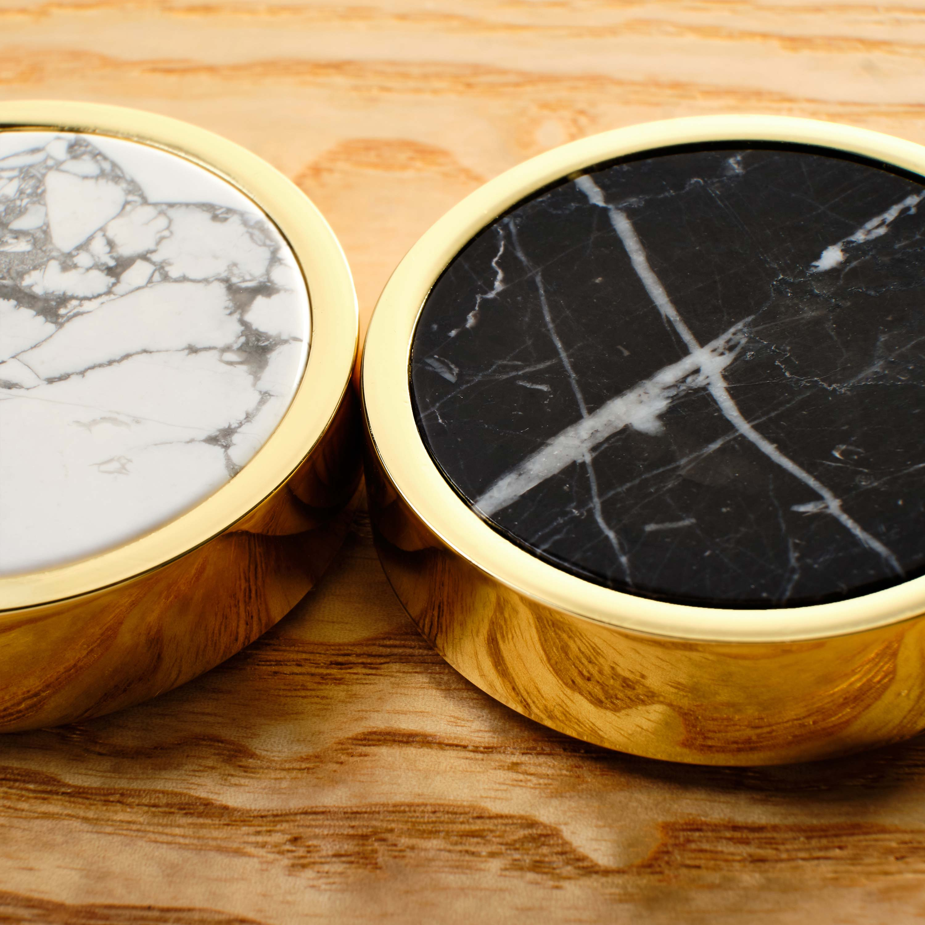 black and white marble playing pieces