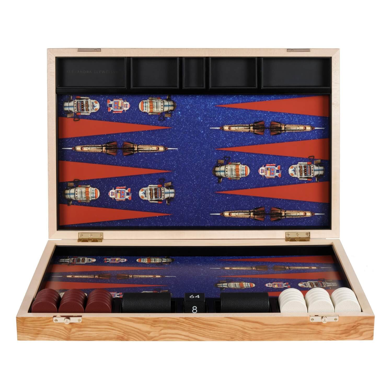 Alexandra Llewellyn Robot Backgammon Set upright