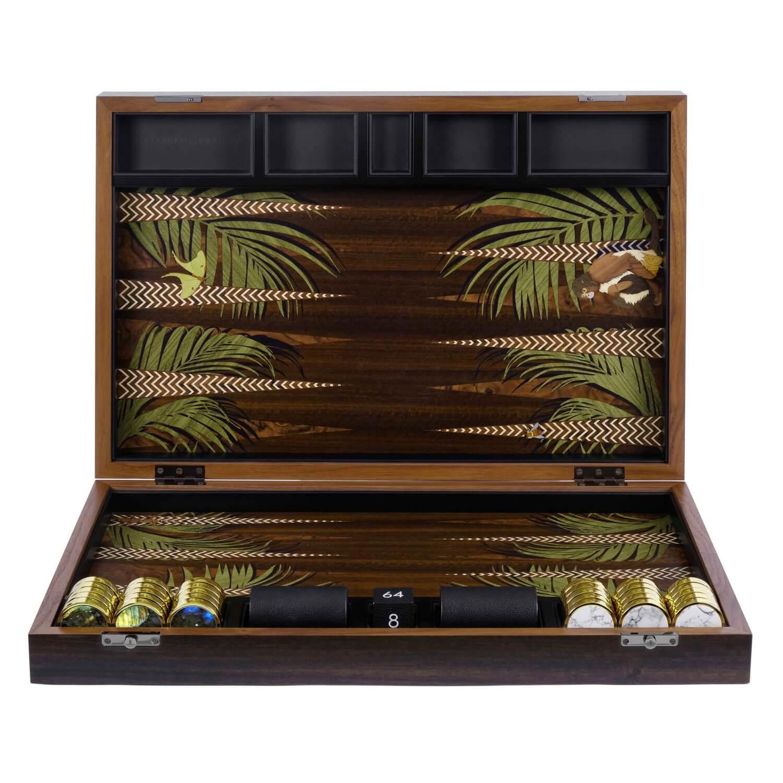 Alexandra Llewellyn Butterfly Backgammon Set upright
